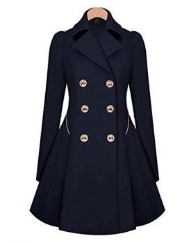 Women's Double-Breasted Long Thin Jacket Trench Coat
